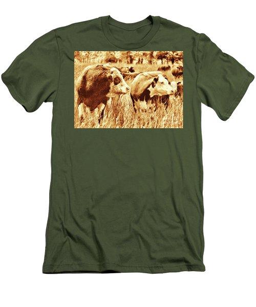 Simmental Bull 3 Men's T-Shirt (Athletic Fit)
