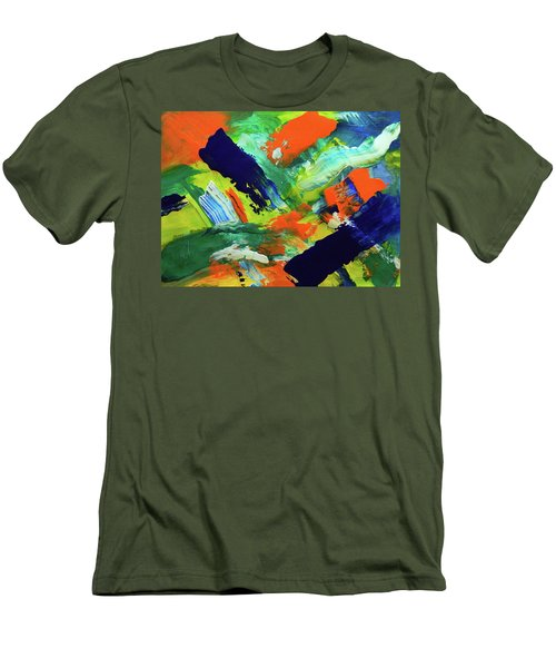 Men's T-Shirt (Slim Fit) featuring the painting Simple Things by Everette McMahan jr