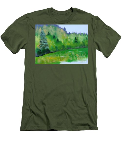 Simply Green Men's T-Shirt (Slim Fit) by Rod Jellison