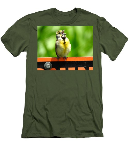 Singing Dickcissel Men's T-Shirt (Athletic Fit)