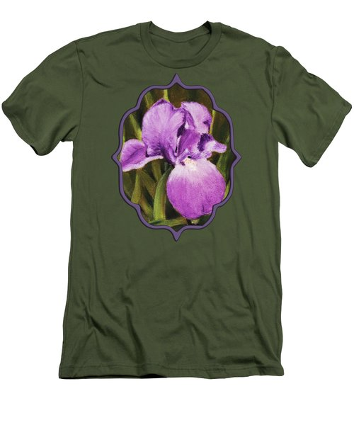 Single Iris Men's T-Shirt (Slim Fit) by Anastasiya Malakhova