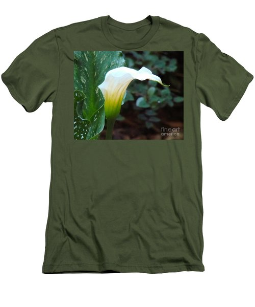 Single Lily  Men's T-Shirt (Slim Fit) by Rand Herron