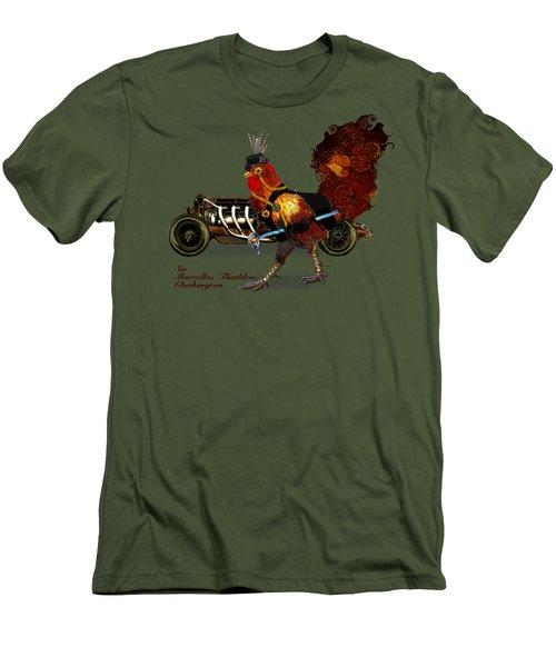 Sir Marcellus Thaddeus Cluckington Men's T-Shirt (Slim Fit) by Iowan Stone-Flowers