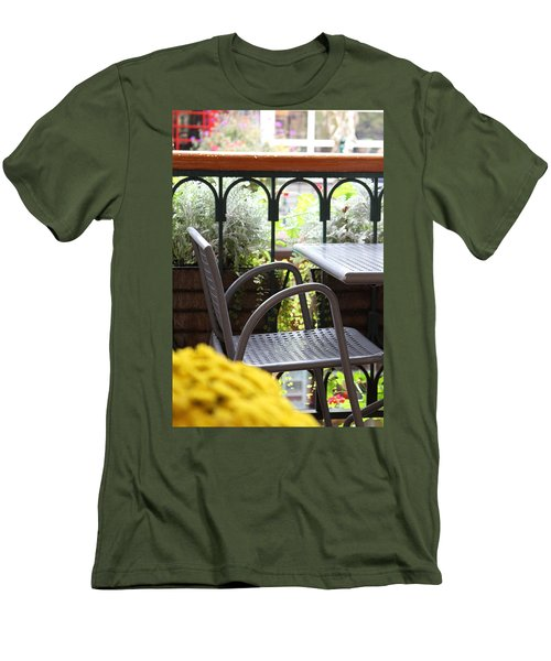 Men's T-Shirt (Slim Fit) featuring the photograph Sit A While by Laddie Halupa