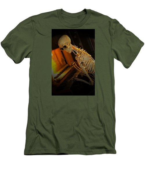 Skeleton Musician Men's T-Shirt (Athletic Fit)
