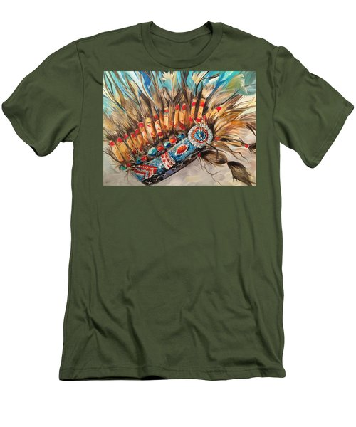 Sky Feather Detail Men's T-Shirt (Slim Fit) by Heather Roddy