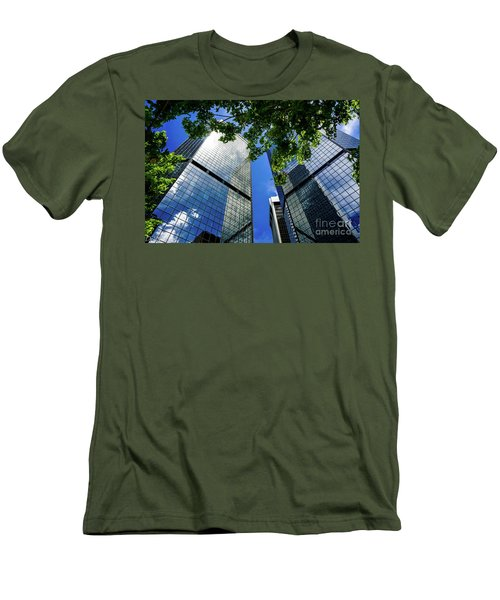 Skyscraper Spring Men's T-Shirt (Slim Fit) by Deborah Nakano