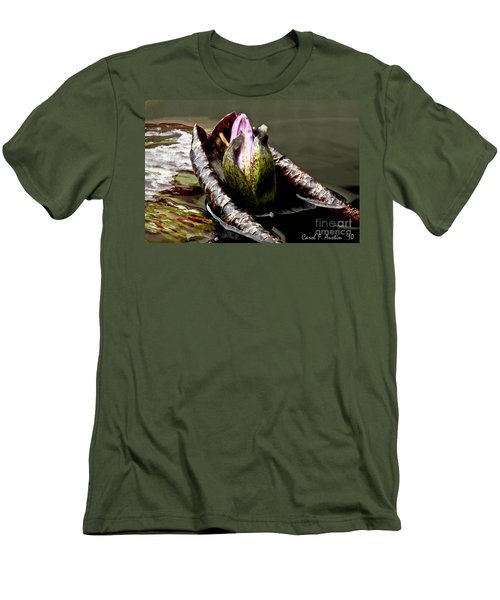 Sleeping Beauty In Water Lily Pond Men's T-Shirt (Slim Fit) by Carol F Austin