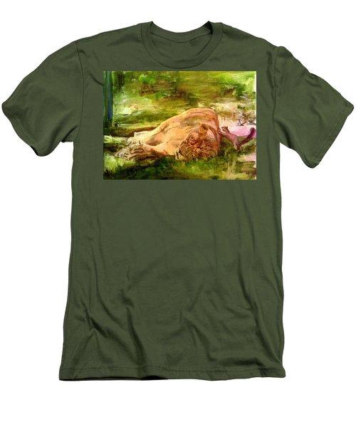 Sleeping Lionness Pushy Squirrel Men's T-Shirt (Athletic Fit)