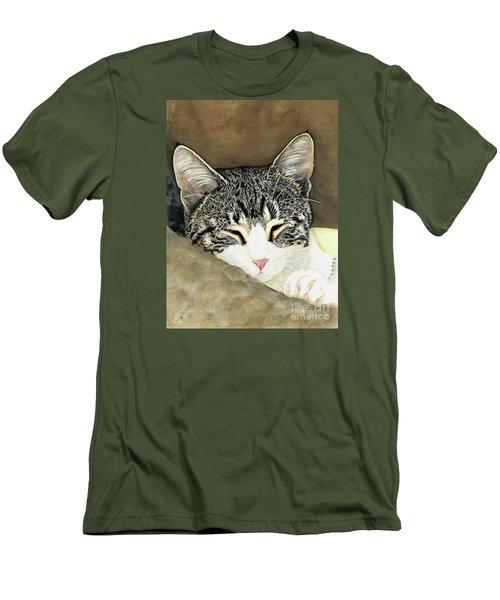 Sleeping Mia Men's T-Shirt (Slim Fit) by Shari Nees