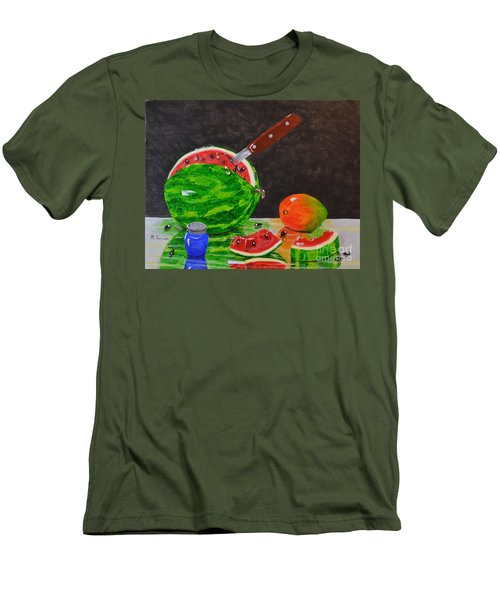 Sliced Melon Men's T-Shirt (Athletic Fit)