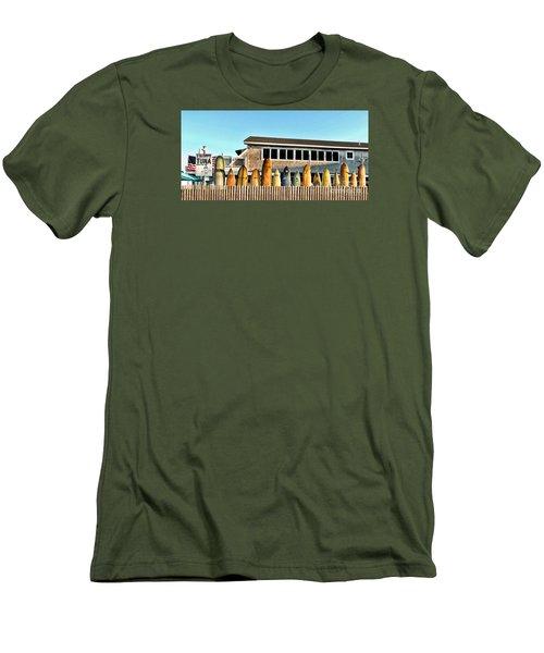 Sloppy Tuna Restaurant, Montauk Long Island Men's T-Shirt (Slim Fit) by Joan  Minchak