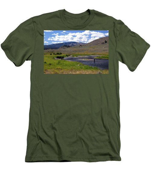 Slough Creek Angler Men's T-Shirt (Athletic Fit)