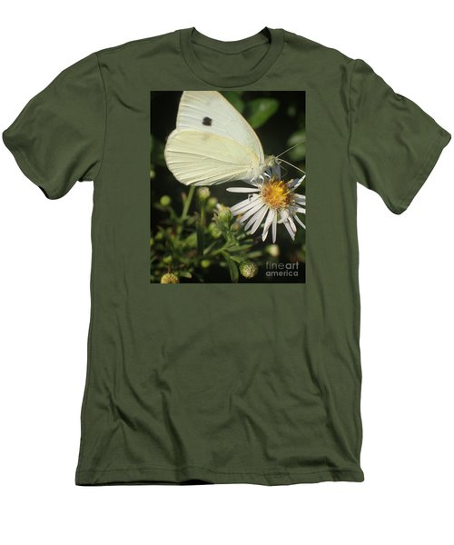 Men's T-Shirt (Slim Fit) featuring the photograph Sm Butterfly Rest Stop by Christina Verdgeline
