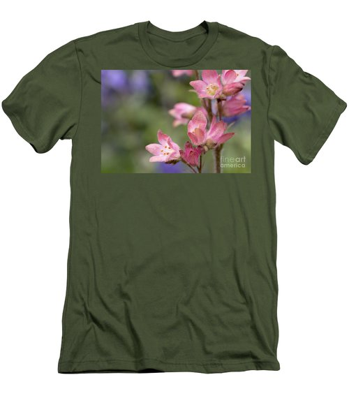 Small Flowers Men's T-Shirt (Slim Fit) by Tine Nordbred