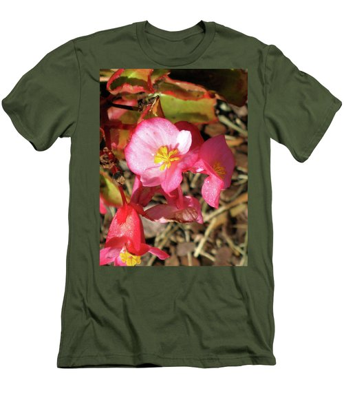 Small Pink Flowers Of Summer Men's T-Shirt (Slim Fit) by Michele Wilson