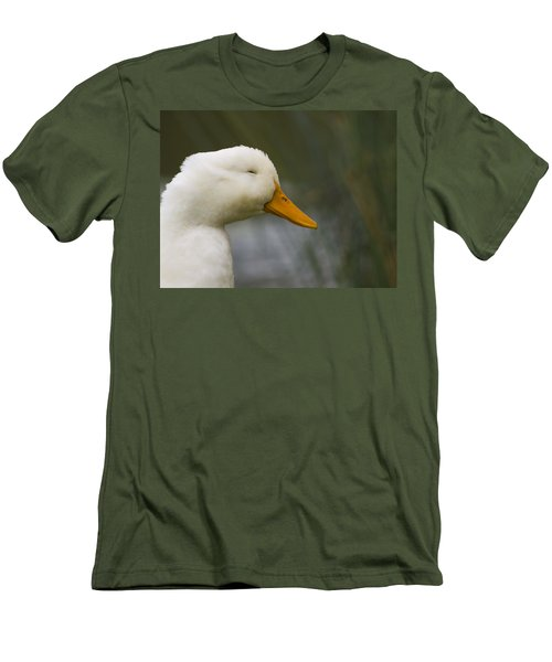 Smiling Pekin Duck Men's T-Shirt (Slim Fit) by Tara Lynn