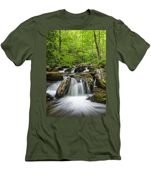 Smith Creek, Springtime Men's T-Shirt (Athletic Fit)