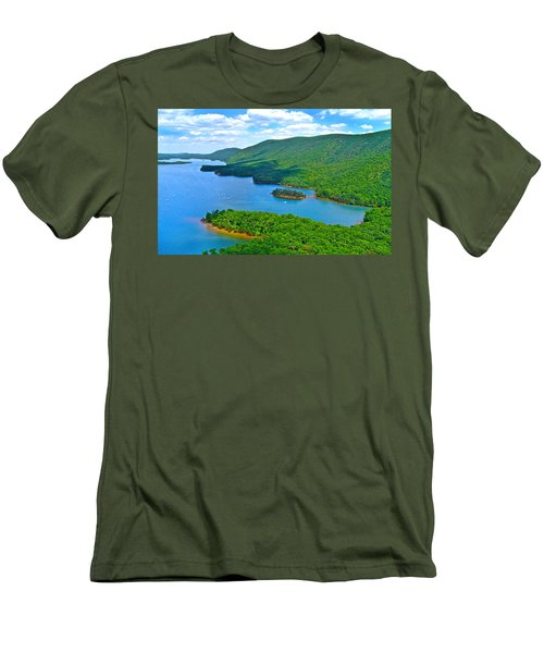 Smith Mountain Lake Poker Run Men's T-Shirt (Slim Fit) by American Shutterbug Soccity