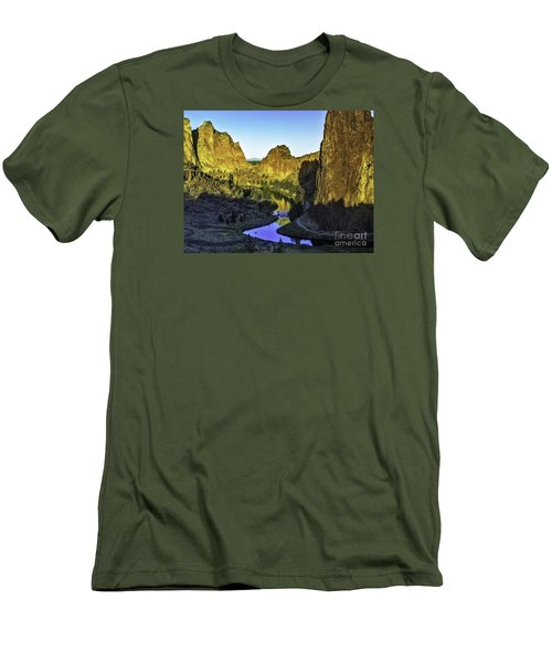 Smith Rock, Oregon Men's T-Shirt (Slim Fit) by Nancy Marie Ricketts