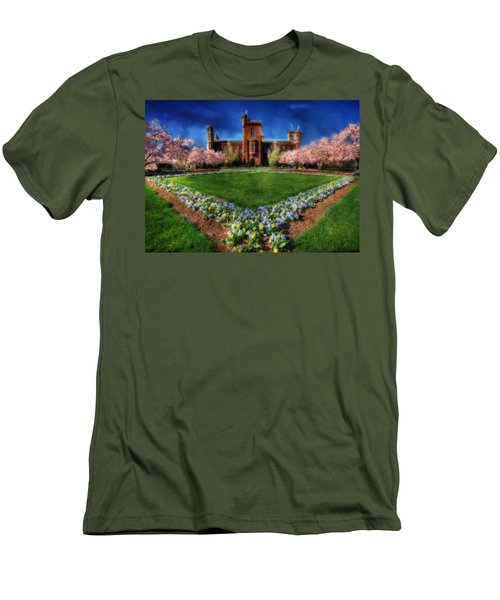 Spring Blooms In The Smithsonian Castle Garden Men's T-Shirt (Slim Fit) by Shelley Neff