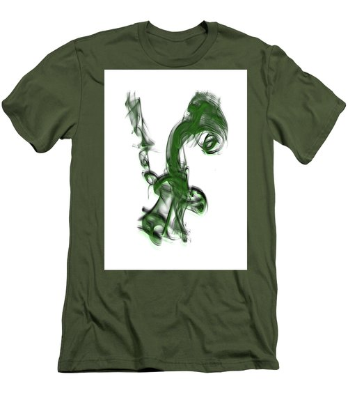 Smoke 01 - Green Men's T-Shirt (Athletic Fit)