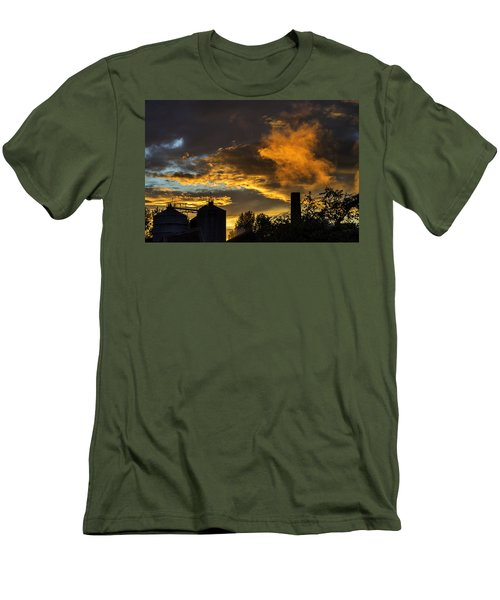 Men's T-Shirt (Slim Fit) featuring the photograph Smoky Sunset by Jeremy Lavender Photography