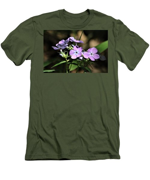 Men's T-Shirt (Athletic Fit) featuring the photograph Smooth Phlox Wildflowers by Sheila Brown