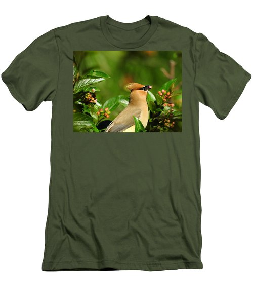 Men's T-Shirt (Slim Fit) featuring the photograph Snacking by Betty-Anne McDonald