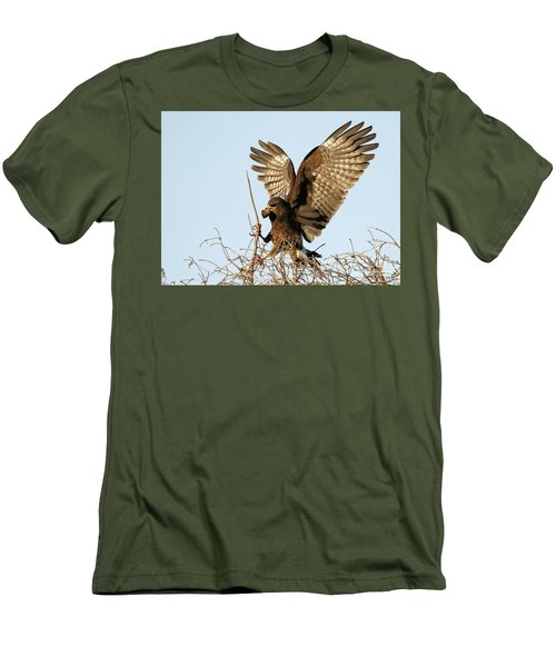 Snail Kite Coming In Men's T-Shirt (Athletic Fit)