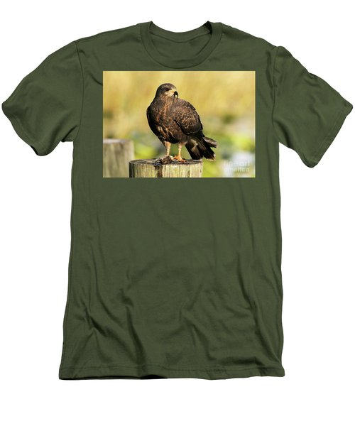 Snail Kite With A Snack Men's T-Shirt (Athletic Fit)