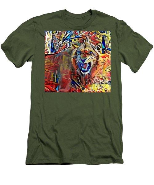 Snarling Lion Men's T-Shirt (Athletic Fit)
