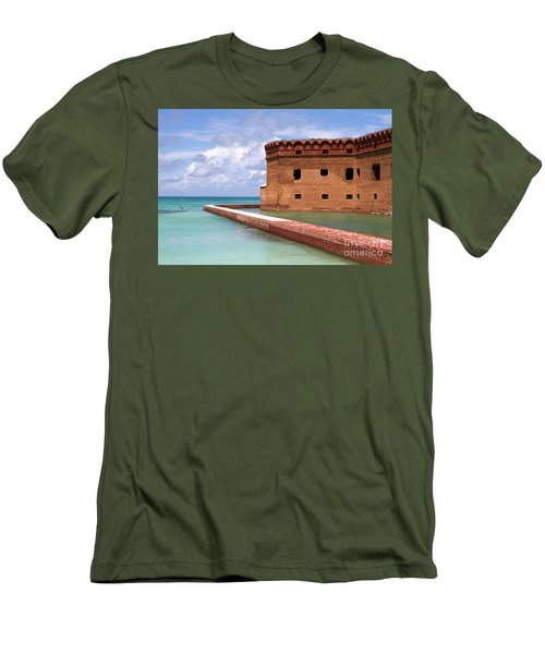 Snorkelers Fort Jefferson Men's T-Shirt (Athletic Fit)