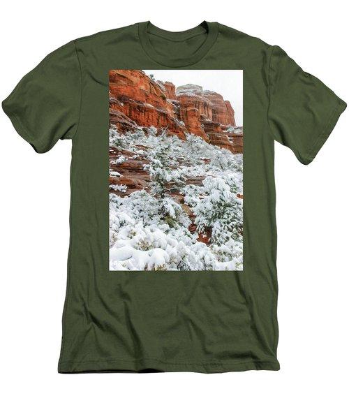 Snow 06-051 Men's T-Shirt (Slim Fit) by Scott McAllister