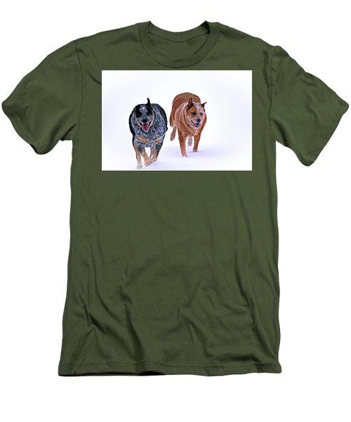 Snow Buddies Men's T-Shirt (Slim Fit) by Elizabeth Winter