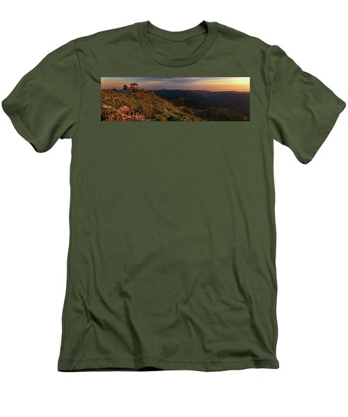 Men's T-Shirt (Slim Fit) featuring the photograph Snow Camp Lookout by Leland D Howard