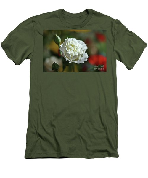 Men's T-Shirt (Slim Fit) featuring the photograph Snow White by Stephen Mitchell
