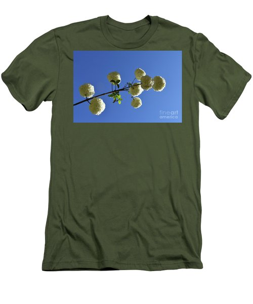 Men's T-Shirt (Slim Fit) featuring the photograph Snowballs On A Stick by Skip Willits