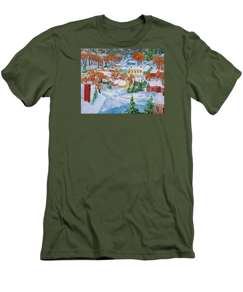 Snowed In Men's T-Shirt (Slim Fit) by Mike Caitham