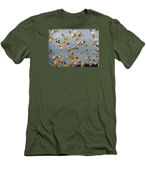 Snowgeese In Flight 2 Men's T-Shirt (Athletic Fit)