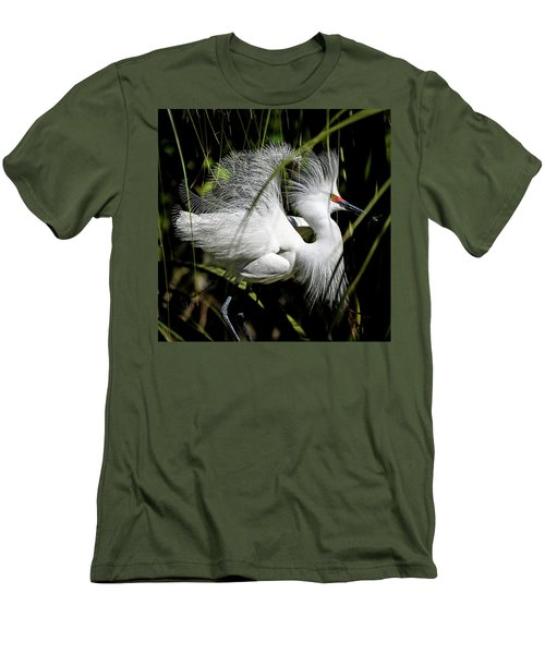Men's T-Shirt (Athletic Fit) featuring the photograph Snowy Egret by Steven Sparks