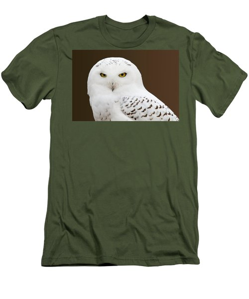 Snowy Owl Men's T-Shirt (Slim Fit) by Steve Stuller