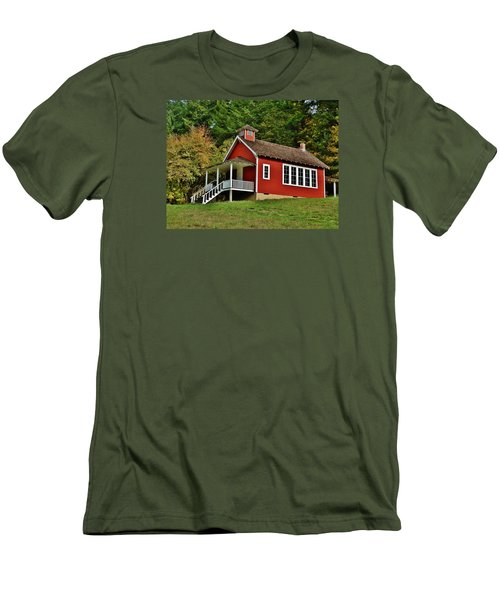 Soap Creek Schoolhouse Men's T-Shirt (Slim Fit) by VLee Watson