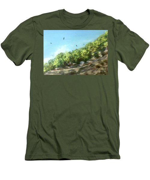 Soaring Above The North Rim Men's T-Shirt (Athletic Fit)