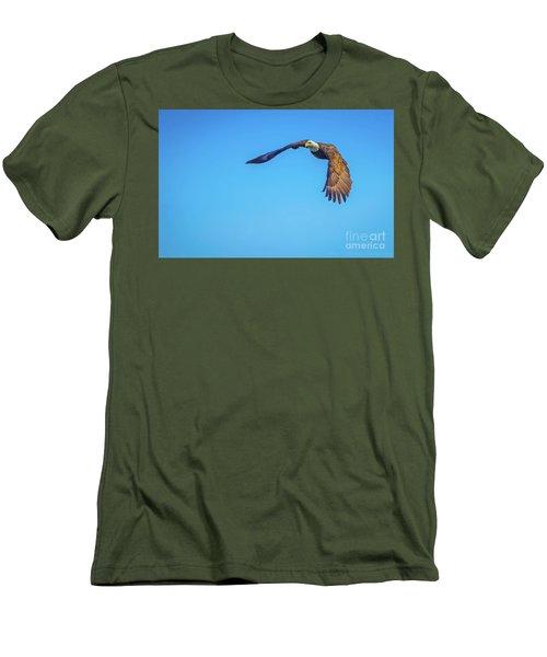 Soaring Eagle Men's T-Shirt (Slim Fit) by John Roberts