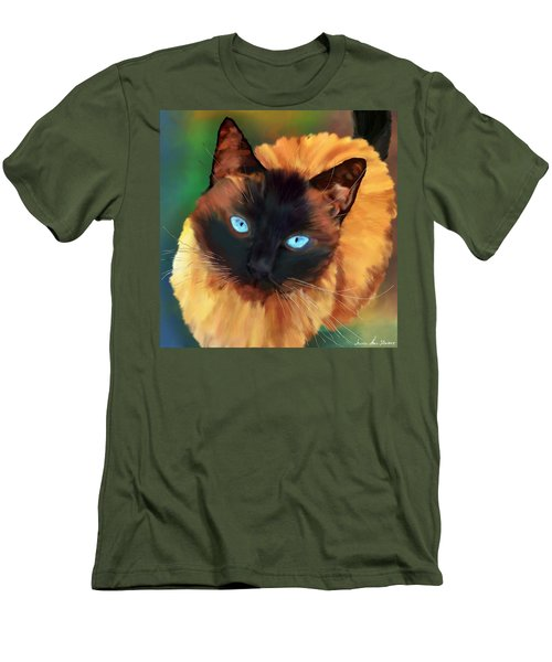 Men's T-Shirt (Athletic Fit) featuring the digital art Socrates Felis Catus by Iowan Stone-Flowers