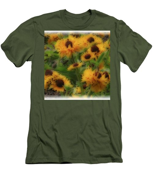 Men's T-Shirt (Slim Fit) featuring the photograph Soft Touch Black Eyed Suzy's  by Debra     Vatalaro