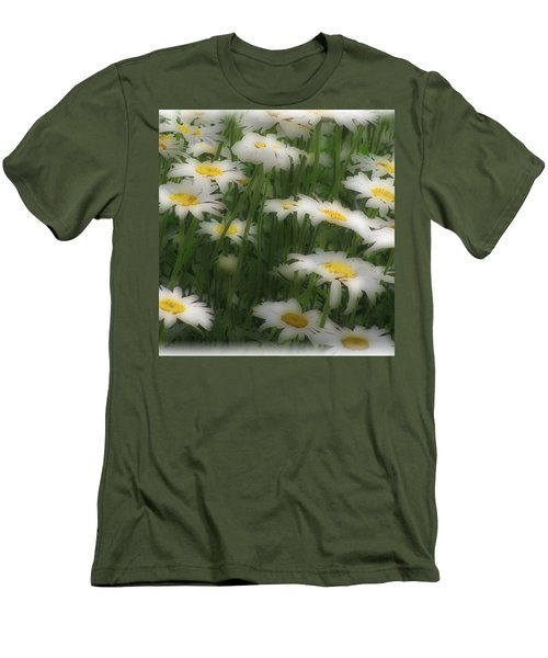 Men's T-Shirt (Slim Fit) featuring the photograph Soft Touch Daisy by Debra     Vatalaro