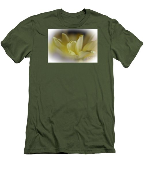 Men's T-Shirt (Slim Fit) featuring the photograph Soft Yellow by Yumi Johnson
