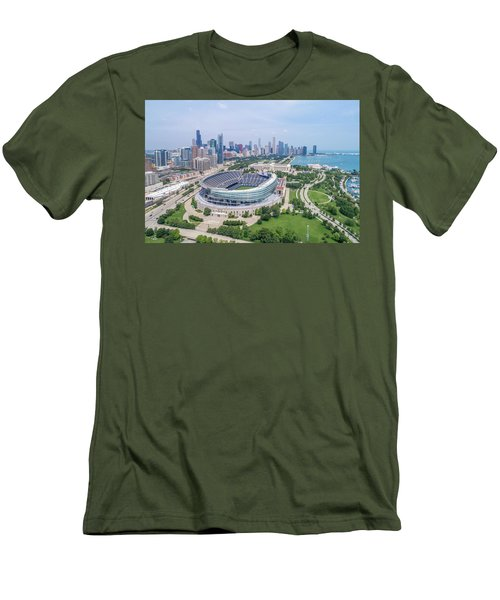 Men's T-Shirt (Athletic Fit) featuring the photograph Soldier Field by Sebastian Musial
